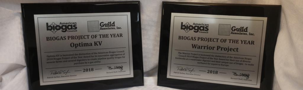 Guild Associates, Inc. Honored Twice at American Biogas Council 2018 Biogas Project of the Year Awards