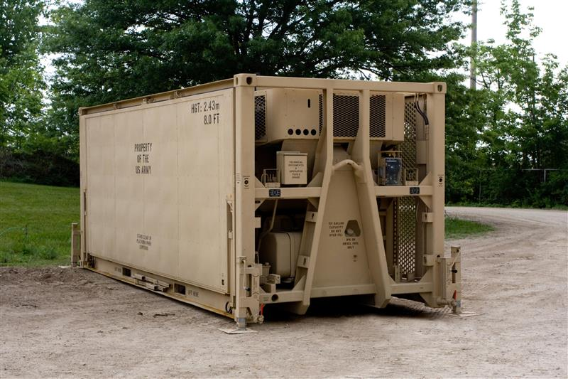 Transport-Ready MIRCS - In the fully-packed configuration, the MIRCS is ready for transport via intermodal transportation, and is ruggedized for helicopter transport.