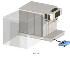 The RSU-12 shown with optional Screening Vestibule.
